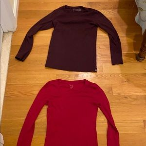 Tops - Two slim fitting long sleeved shirts